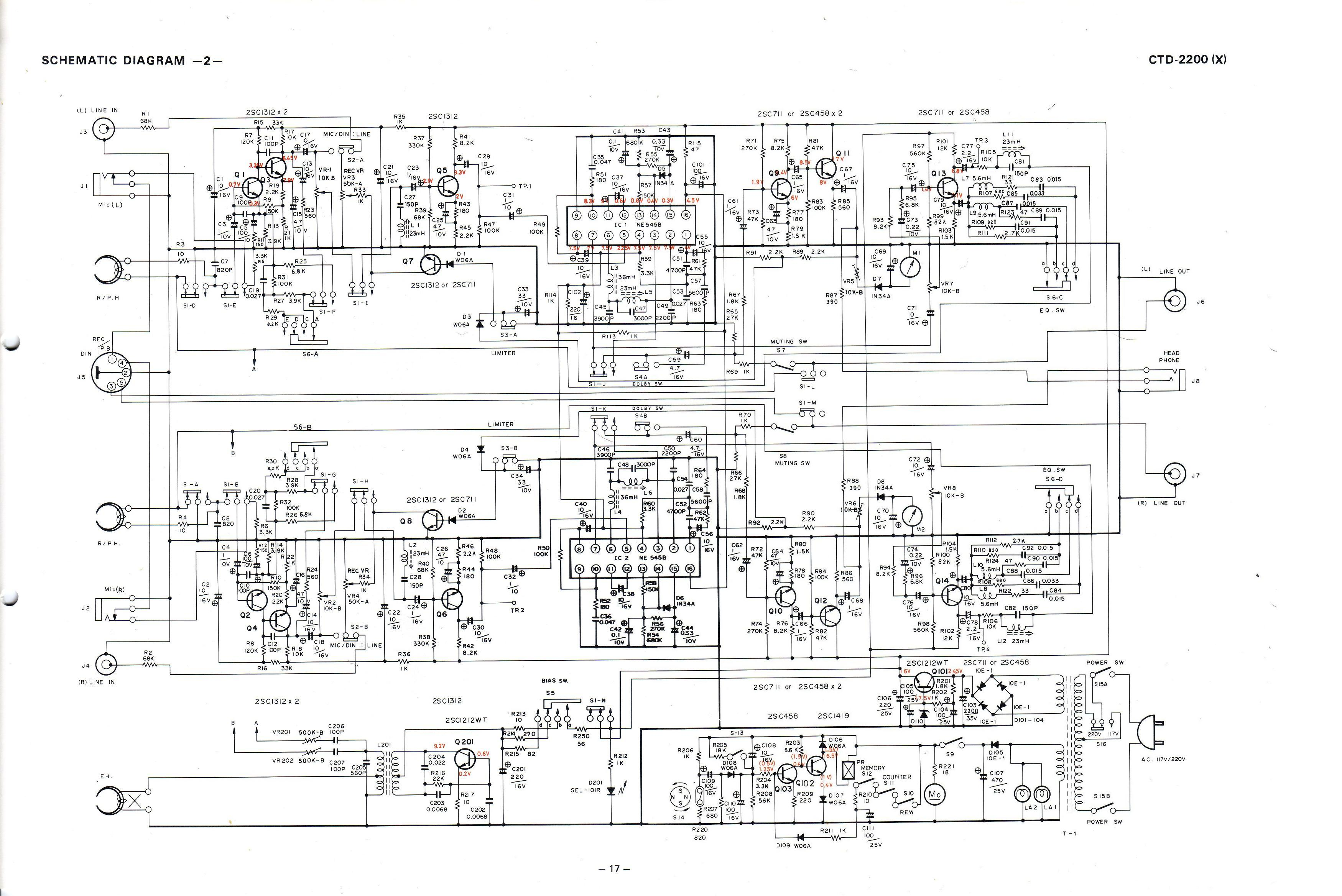 vintage technics crown ctd 2200 rh vintage technics ru technics 1200 headshell wiring diagram technics sl 220 wiring diagram